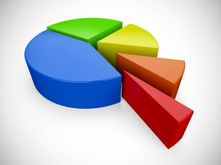 pie: 3D pie chart 7 Stock Photo