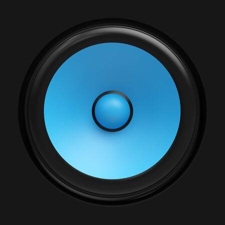 amp tower: Big blue speaker