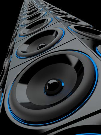 amp tower: loudspeaker tower blue