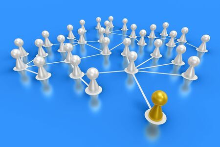 human resource: connected friends concept 5