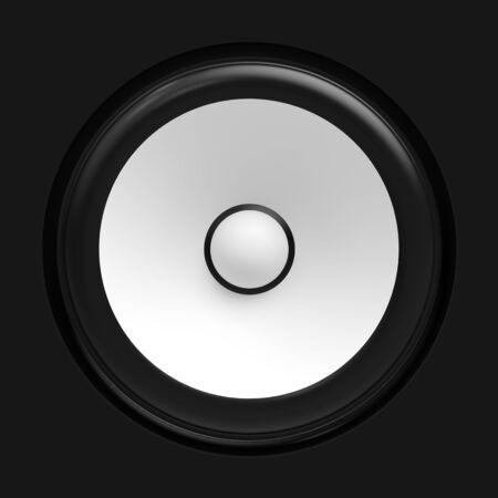 amp tower: Big white speaker Stock Photo