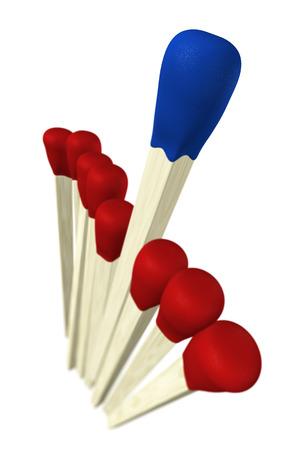 wins: Matchstick concept - blue wins 4