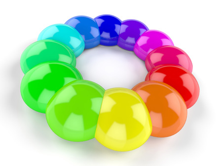 3d rainbow: 3d rainbow color drops circle 5