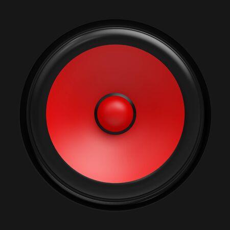 amp tower: Big red speaker
