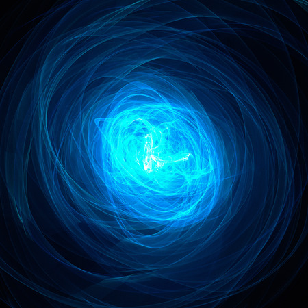 輪廻の青い光