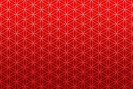 universal love: Flor de papel tapiz de patrón de vida - oro rojo