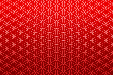 seeds: wallpaper flower of life pattern - red gold
