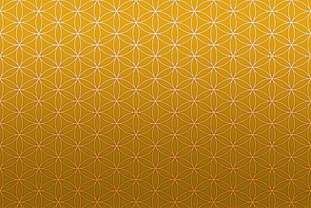 bloem van het leven patroon goud