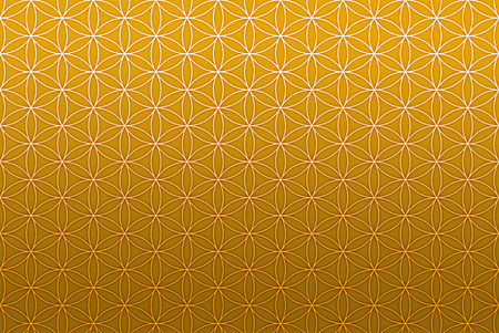 flower of life pattern gold Stock Photo