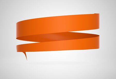 sign orange: round advertising sign orange Stock Photo