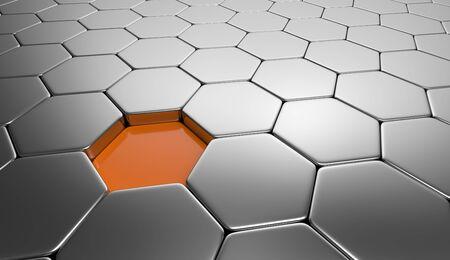 buildup: hexagon concept orange silver 2