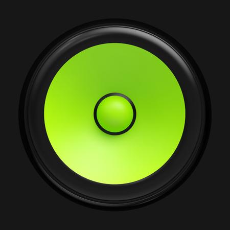amp tower: Big green speaker