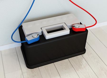 solar power: Solar kit concept - solar battery