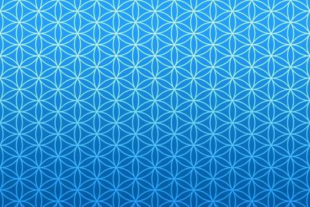 생활 패턴의 벽지의 꽃 - 블루