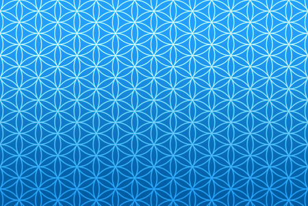 wallpaper flower of life pattern - blue
