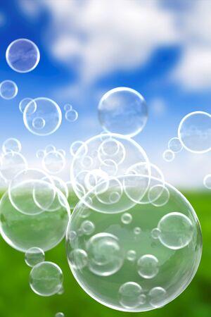 surfaces: Soap bubbles background Vertical Stock Photo