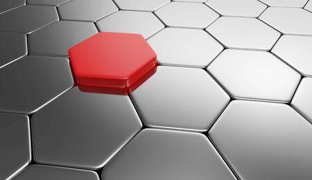 buildup: Hexagon concept red silver 2