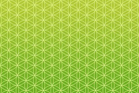 wallpaper flower of life pattern - green