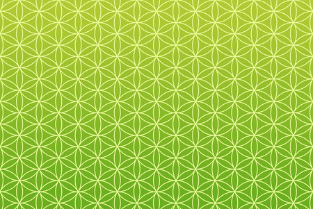 the backplate: wallpaper flower of life pattern - green