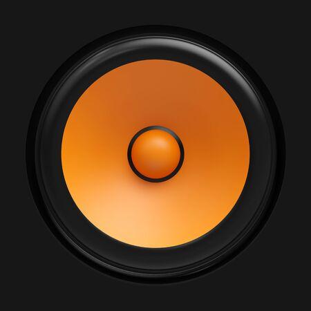amp tower: Big orange speaker