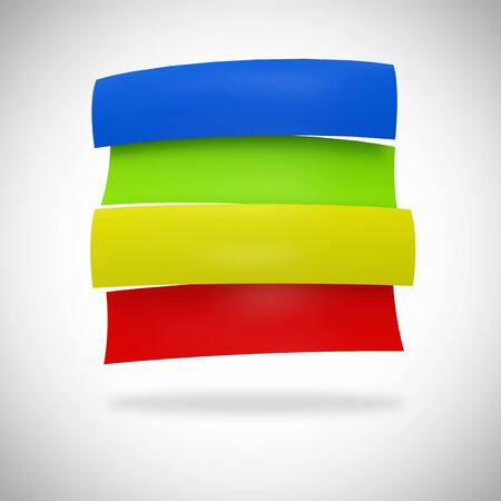 dialog baloon: Colorful banners blue green yellow red