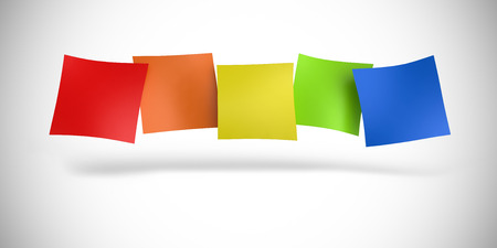 dialog baloon: colorful notes in a row Stock Photo