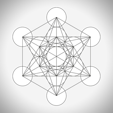 hexahedron: Metatrons cube symbol