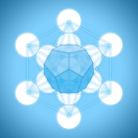 solid figure: Il cubo di Metatron con solidi platonici - dodecaedro