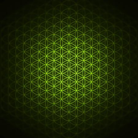 Genesis patroon - de bloem van het leven groen