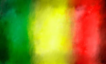 jah: reggae colored background