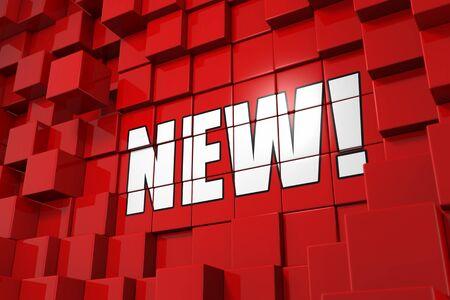 discount banner: 3D Illustration Cube Concept - New