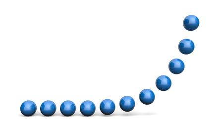 blue ball: Chart Ball Concept blue 5
