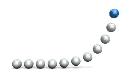 Chart Ball Concept blue 4 Banco de Imagens
