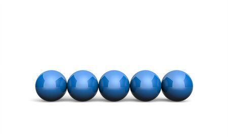 blue ball: 3D Illustration Ball Concept blue