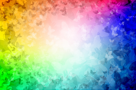 backplate: 1000 Butterflies Rainbow colored Background