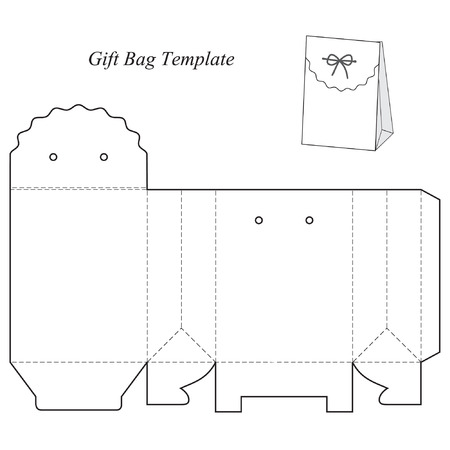 christmas cake: Box template with lid, blank, vector illustration, isolated