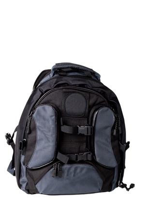 Photo backpack on a white background Stock Photo