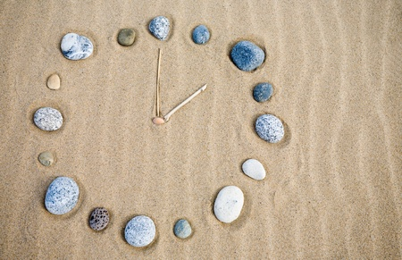 endlessness: Natural watch on a sand