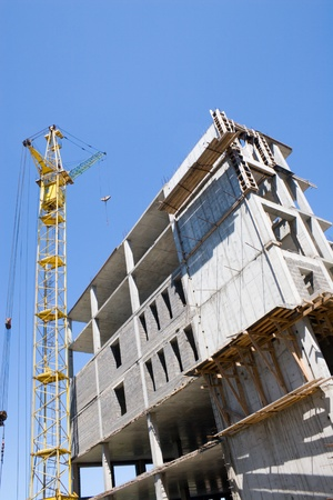 Construction of a new trading building.