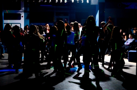 Dancing people in an underground club  Stock Photo - 12717454