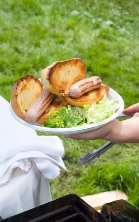 Fresh hot dog with roll Stock Photo - 12728900