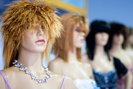 Group of Fashion Model Mannequins. photo