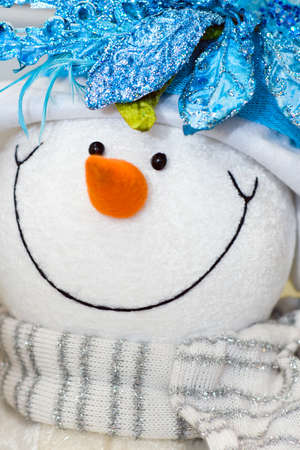 Snow man. Background for the Christmas & New Year's card. Stock Photo - 12729042