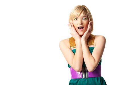 Young woman surprised Stock Photo - 12902898