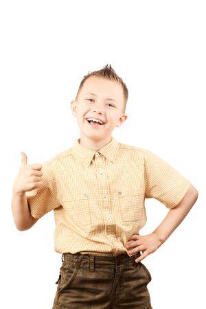 Ok sign from a little boy photo