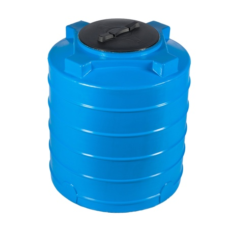 Big polyethylene container of 400 litres  Stock Photo