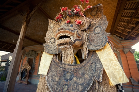 Barong the benevolent beast that scares bad spirits away Bali photo