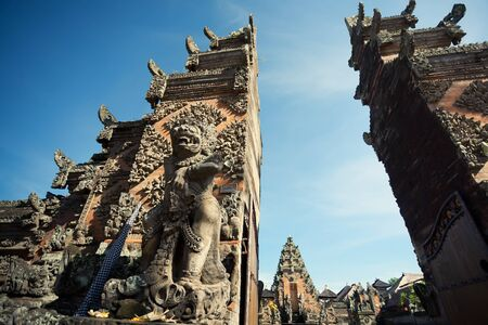 Traditional architecture of temples of Bali  Stock Photo