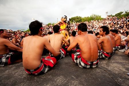 kecak: BALI - DECEMBER 30  traditional Balinese Kecak and Fire dance at Uluwatu Temple  on DECEMBER 30, 2012, Bali, Indonesia