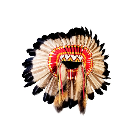 native american indian chief headdress (indian chief mascot, indian tribal headdress, indian headdress) Stock Photo - 19786441